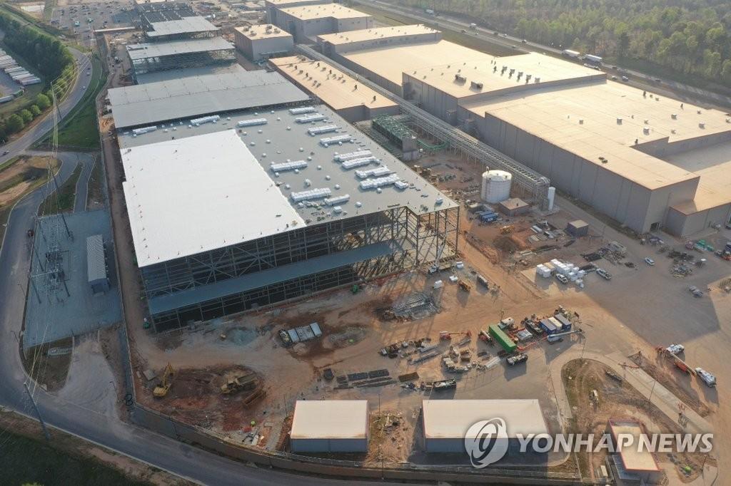 SK이노베이션 미국 조지아주 배터리 1, 2 공장 전경