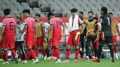 South Korean players leave the field after a scoreless draw against Iraq in the teams' Group A match in the final Asian qualifying round for the 2022 FIFA World Cup at Seoul World Cup Stadium in Seoul on Sept. 2, 2021. (Yonhap)